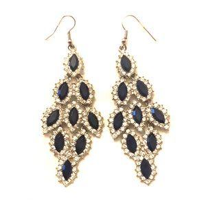 Jewelry - Gorgeous Rhinestone Art Deco Statement Earrings